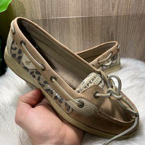 Sperry Top-Sider Angelfish Beige Leopard Loafers